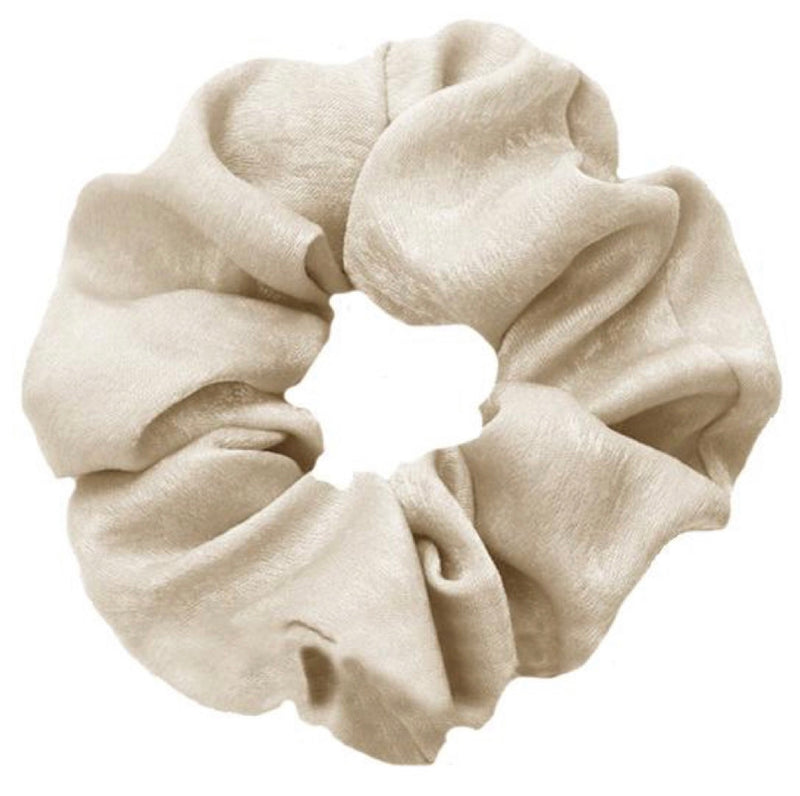 SILK scrunchie - LeatherFeather