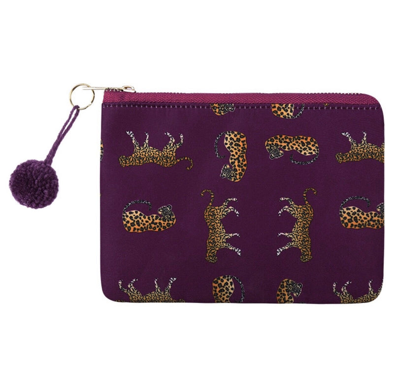 WILD LEO make-up bag - LeatherFeather