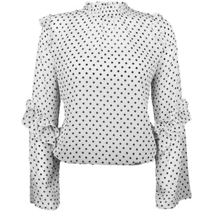 FELINE DOTS top - LeatherFeather