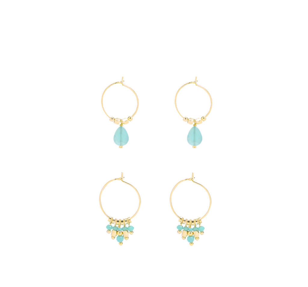 LISS earring set - LeatherFeather