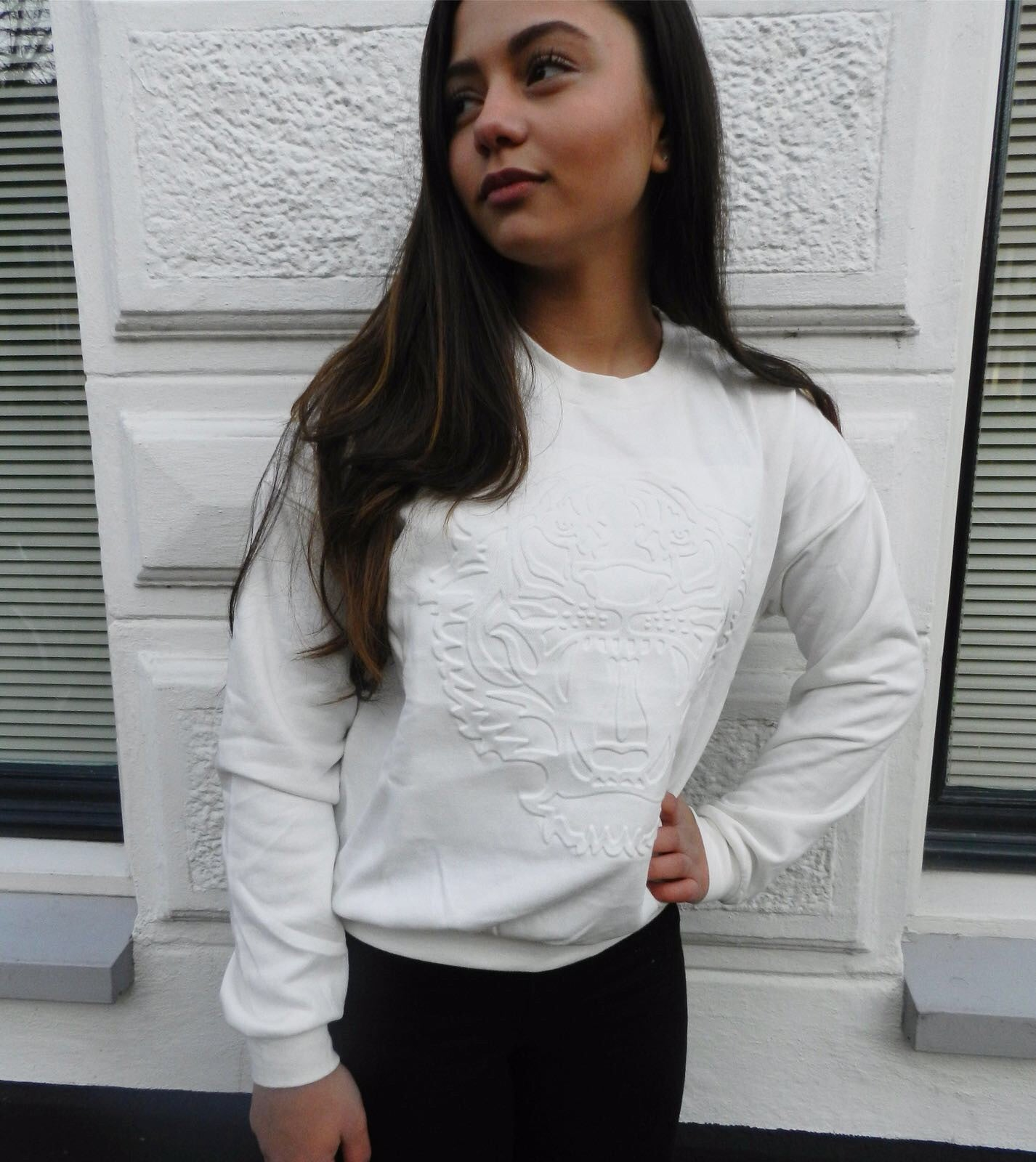 White Tiger Sweater - LeatherFeather