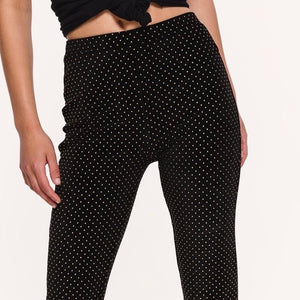 SPOT ON FLARED pants ZWART - LeatherFeather