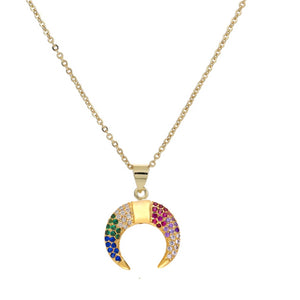 GOLDEN RAINBOW necklace - LeatherFeather