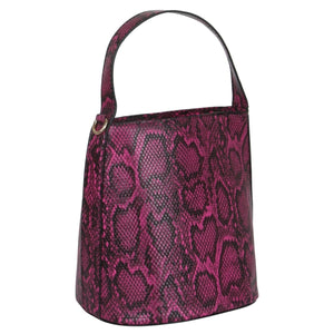 Bucket Bag Sassy Snake - LeatherFeather