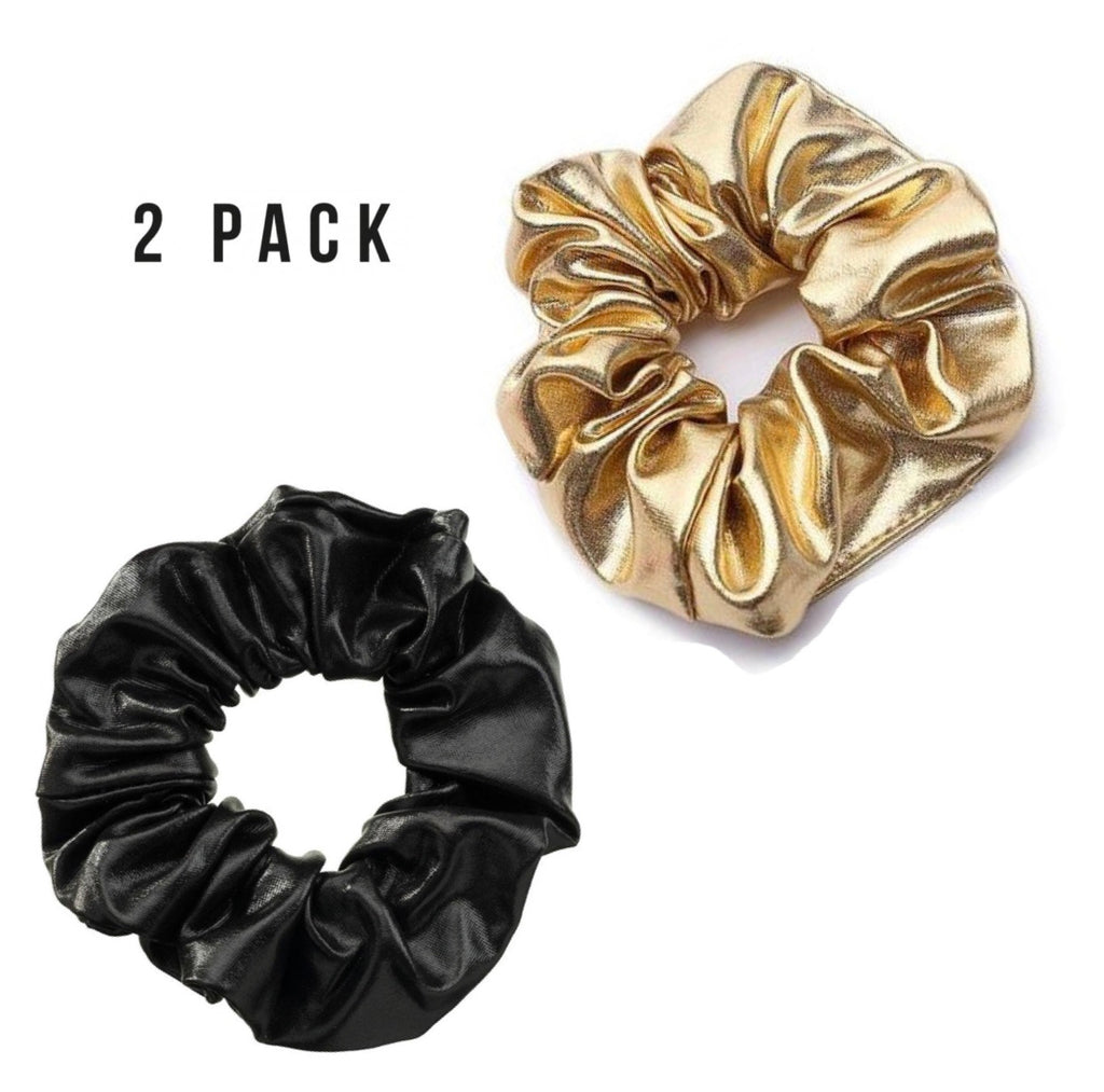 SHINY scrunchie set - LeatherFeather