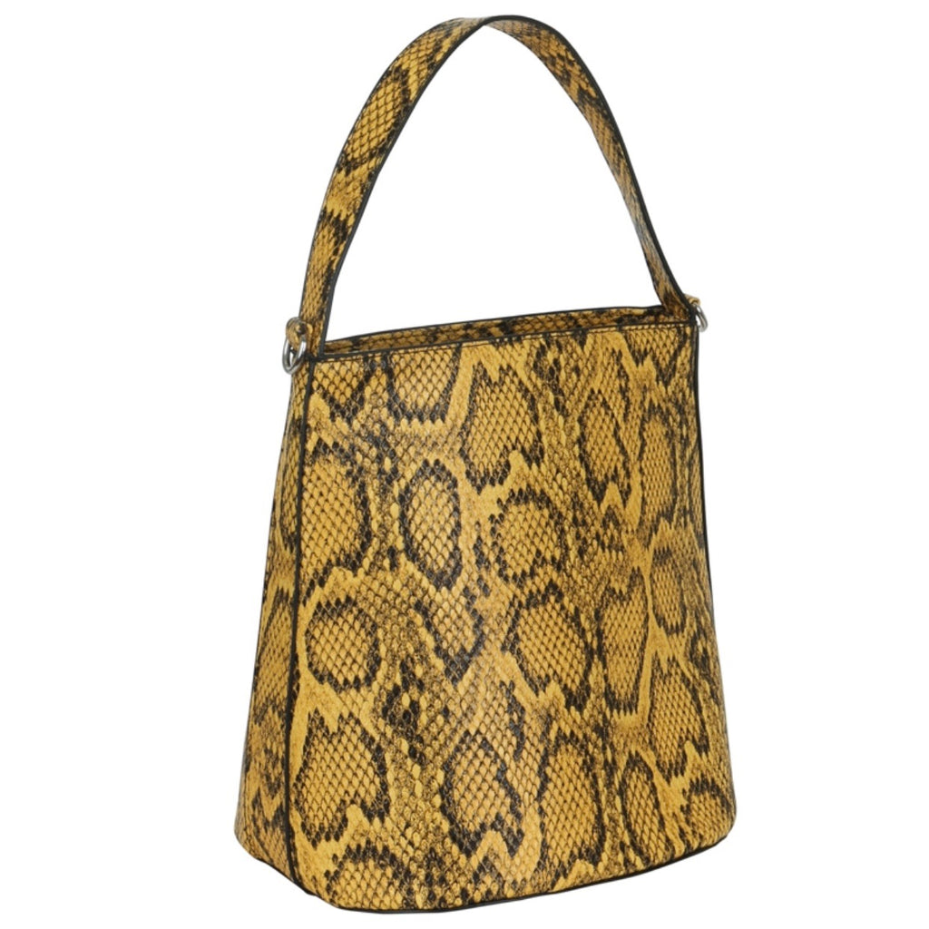 SASSY SNAKE bucket bag - LeatherFeather