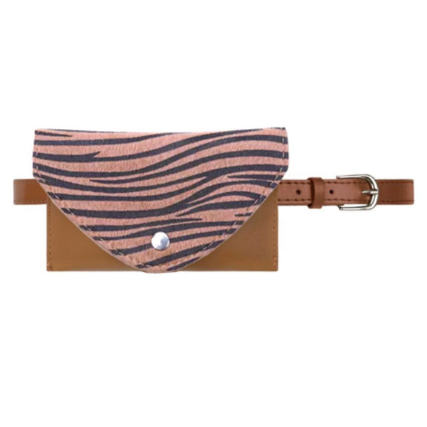 It's a Wild Life Belt Bag Zebra - LeatherFeather