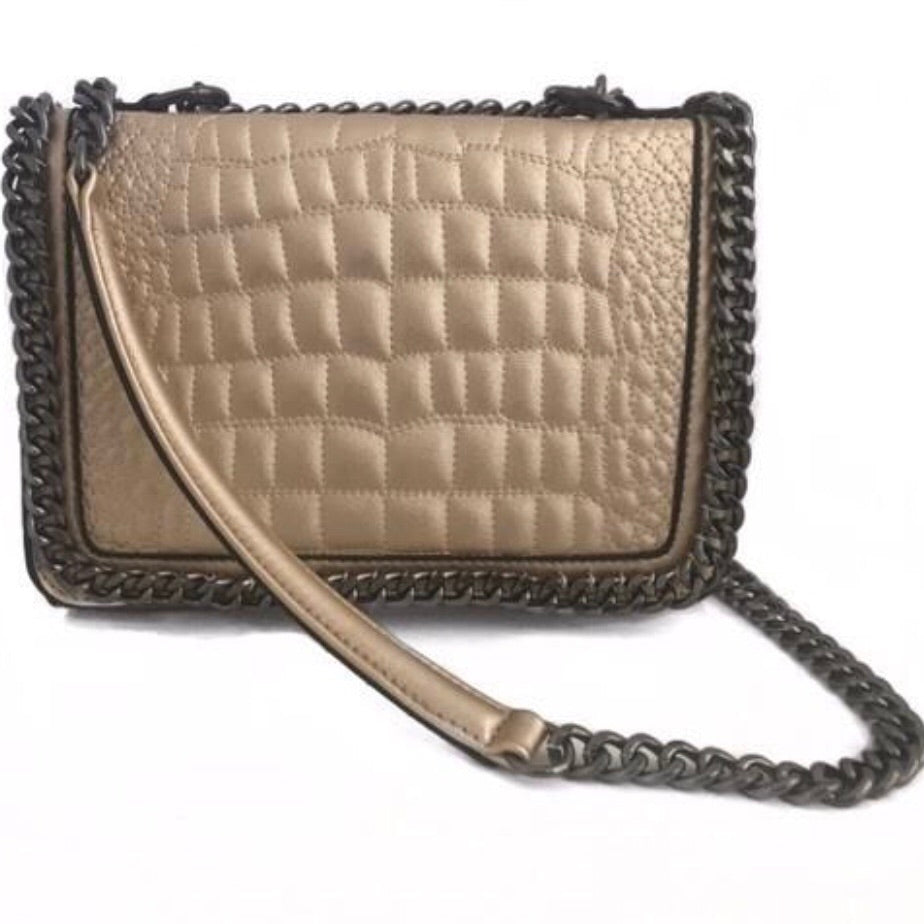GOLD CHAIN bag - LeatherFeather