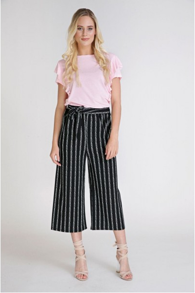 STRIPE ON MY MIND pants - LeatherFeather