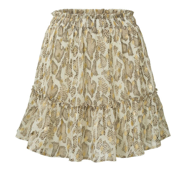 LOVELY GOLD skirt - LeatherFeather