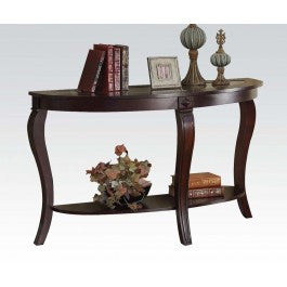 ACMEF00453-Oval Sofa Table W/gl Top @n