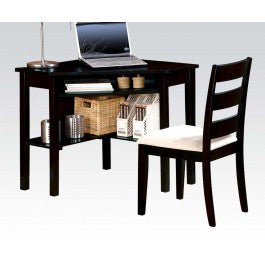 ACMEF00518-Bk 2pc Pk Corner Desk , Chair