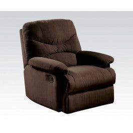 ACMEF00632-Chocolate Microfiber Recliner