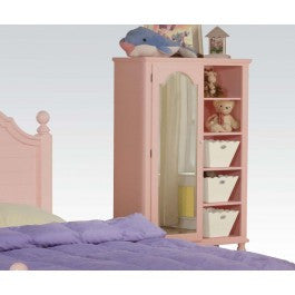 ACMEF00742-Pink W/wh Flower Door Chest