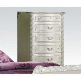 ACMEF01016-Pearl Wh 5-drawer Chest @n