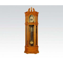 ACMEF01410-Oak Grandfather Clock @n
