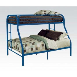 ACMEF02052BU-Blue Twin/queen Bunk Bed