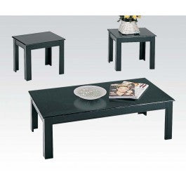 ACMEF02168BK-Black Fin. 3pc Pk C/e Table Se