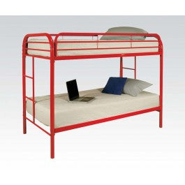 ACMEF02188RD-Red Twin/twin Bunk Bed