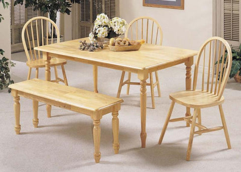 "ACMEF02247N-Natural 36x60"" Solid Top Table"