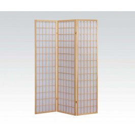 ACMEF02285-3-panel Natural Wooden Screen