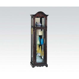 ACMEF02349-Cherry Curio W/light Top Shelf