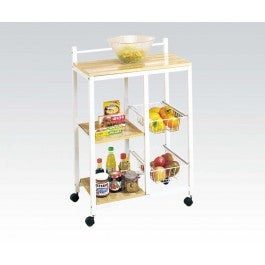 ACMEF02668-White Kitchen Cart