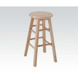 "ACMEF02737N-24""h Wooden Stool/natural"