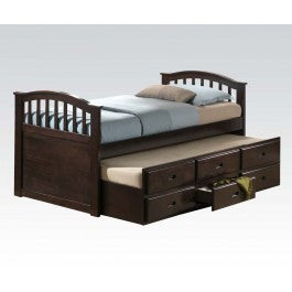 ACMEF04990-KIT-D.WALNUT Twin Bed,trundle