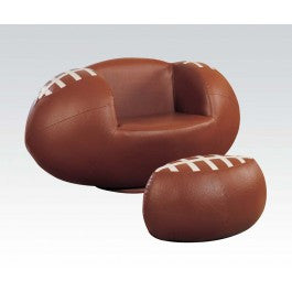 ACMEF05526-2pc Pk Football Chair , Ottoma