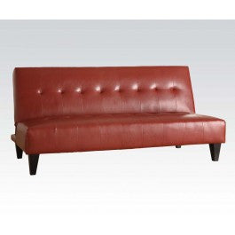 ACMEF05856-Red Pu Bycast Adjustable Sofa