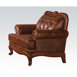 ACMEF05947-Dark Brown Leather Chair
