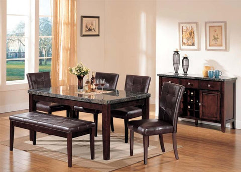 ACMEF07058-Din Table W/black Marble Top