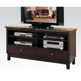 ACMEF07093B-TV Console W/black Marble Top