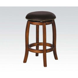 ACMEF07249-Vintage Oak Bar Stool W/swivel