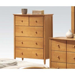 ACMEF08947-Maple Chest W/5 Drawers