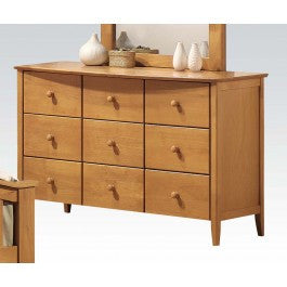 ACMEF08949-Maple Dresser W/6 Drawers