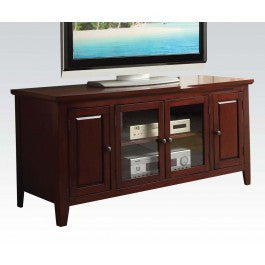 ACMEF10340-Cherry Finish TV Stand