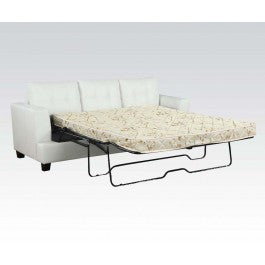 ACMEF15062B-White Bnd L. Sofa W/Q.SLEEPER