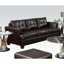 ACMEF15070-Brown Bonded Leather Sofa