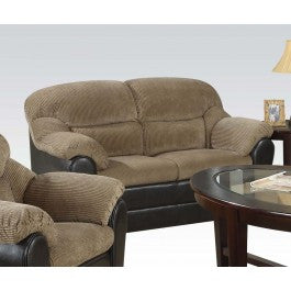 ACMEF15946-Brown Corduroy/esp Pu Loveseat