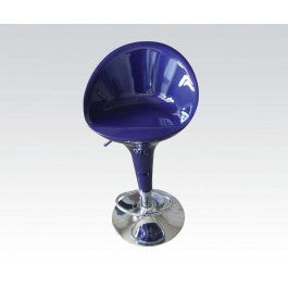 ACMEF17715-Bl/chrome Swivel Adj. Stool @n