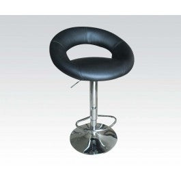 ACMEF17725-Black Pu Adjustable Stool