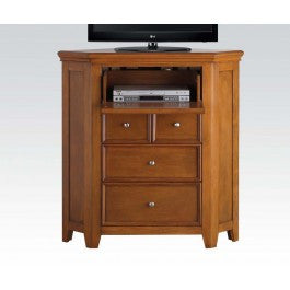 ACMEF30562-Cherry Oak Corner TV Console