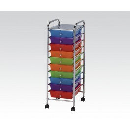 ACMEF92101-Storage Cart W/8 Drawers