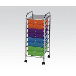 ACMEF92102-Storage Cart W/10 Drawers