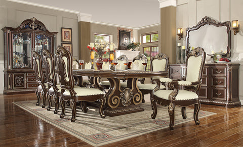 HD-8013 DINING TABLE SET 8 CHAIRS