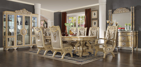 HD-8015 DINING TABLE SET 8 CHAIRS