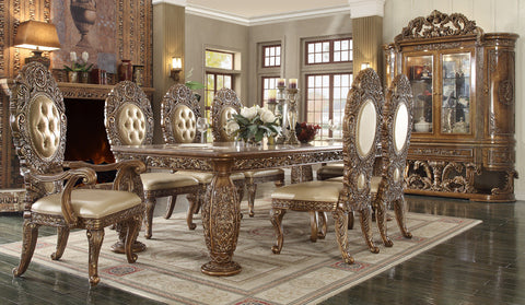 HD-8018 DINING TABLE SET 8 CHAIRS