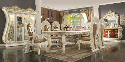 HD-8019 DINING TABLE SET 8 CHAIRS